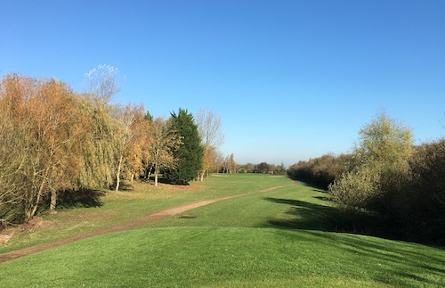 Hole 2 from the tee - 06 November 2017