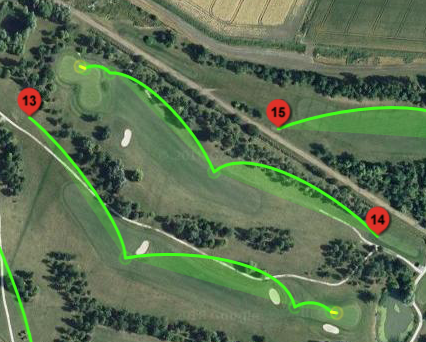 Holes 13 and 14 - 26 June 2018